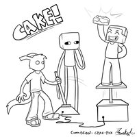 Commission - Chaz, Steve and Enderbro by The-Greys
