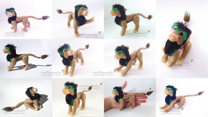 Poseable Lion Doll Commission: Tamu by vonBorowsky