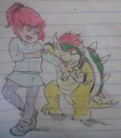 Jenny Foxworth attacked by Bowser by skatergirl747
