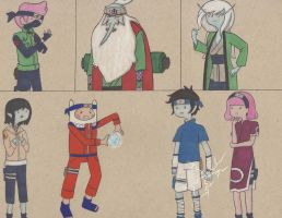 Adventure Time and Naruto by arttoinfinity