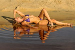 Zoe - purple bikini reflected 1 by wildplaces