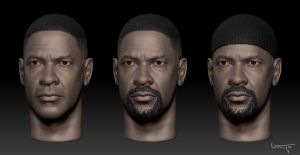 Denzel Washington 1/6 by inigou