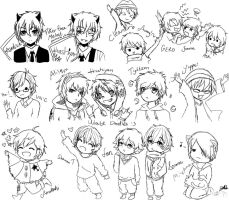 Utaite sketches by lucila-88