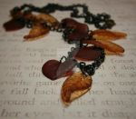 Orange Leaves Necklace by ChristinaRoth333