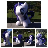 Filly Rarity Plushie by TellabArt