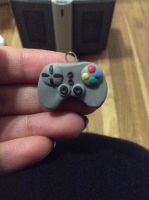 Game controller made out of clay. by SoulEaterLover123123