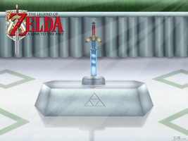 ALTTP Master Sword Wallpaper by BLUEamnesiac