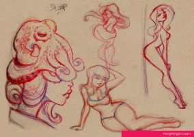 lady sketches 01.10.13 by Peng-Peng