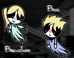PPghosts Banshee and Boo by Knalljaas