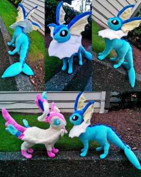 Large Vaporeon plush by Chochomaru