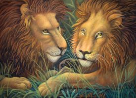 Lions by AldemButcher