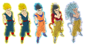 color all gohan ssj1-5 by Naruttebayo67