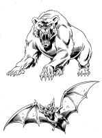 BW Survive - Beast Modes by Simon-Williams-Art