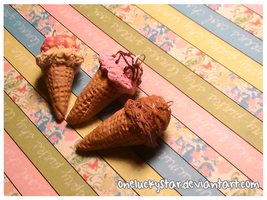 Miniature Ice Cream Cones by OneLuckyStar