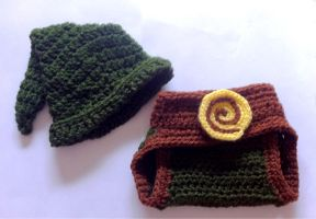 Link inspired baby hat and diaper cover set by AmiAmaLilium