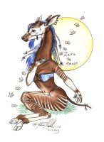 Zaire the Okapi by moonfeather