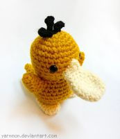 Psyduck Pokemon Amigurumi by yarnmon