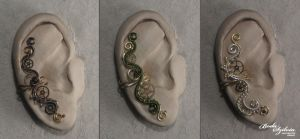 Steampunk ear cuffs by bodaszilvia