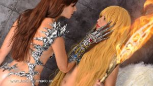 Witchblade and Angelus DSC 3710 wp josemanchado by josemanchado