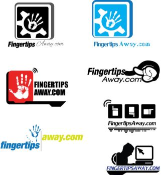Fingertips away logo concepts by yanic