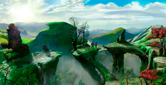 Landscape from Oz the Great and Powerful 2 by DreamyNatalie