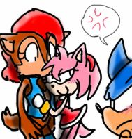 _Amy Sally and Sonic_ by Umbra-Flower