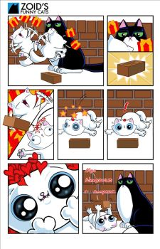 Happy Birthday Rugford- Zoid's Funny Cats comic by KingZoidLord