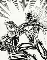 SUPERIOR SPIDER-MAN vs SPIDEY 2099 ROUND 2 by FanBoy67