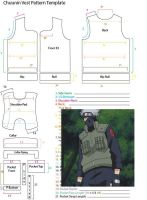 Chuunin Vest Pattern Template by YumeLifeCosplay
