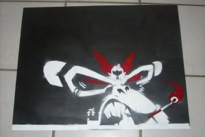 Urban MOnkey Stencil Painting by burhan23