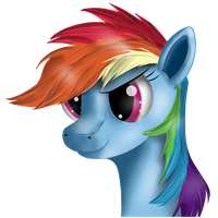 Just Rainbow Dash by Ravirr94