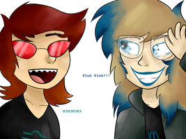 Humanstuck - Terezi and Vriska by WakeningWaffles