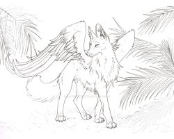 Winged Maned Wolf by CaptainMorwen