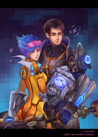 LoL: Full Metal Neon Strike Jayce/Vi by Fiveonthe