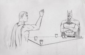 The Real Batman v Superman by nel-izabeth
