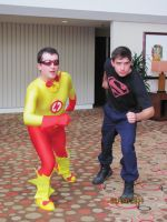 Kid Flash and Superboy by EvrydaySuperman