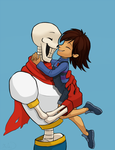 Nose nuzzle for Papyrus by PanteraYoshi