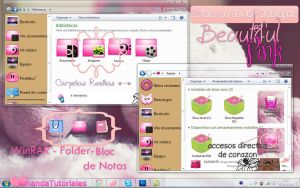 BeautifulPink Tema Para IconPackager by AmandaDeJb