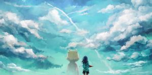 Skies and Imaginary friends by Choctopi