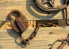 Lock and Chain Stock Photo DSC 0254 by annamae22