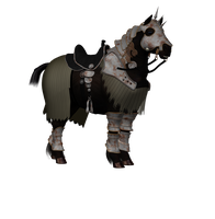 Old Warrior Horse Png Stock 2 by Direwrath