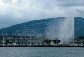 Jet de Eau fountain, Geneva 2 by Alredhead