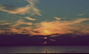 The beauty of the sunset by AnSophia