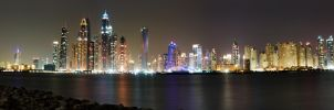 JBR and Marina Towers Panorama by ammarAnbar