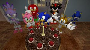Happy 21st Sonic! by jrc1120