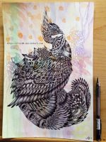 Inked Peacock by nilec88