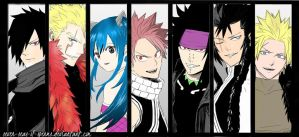 Fairy tail, seven dragon slayers. by seven-seas-of-sperms