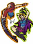 Rainbow Insanity and FallOut Fire  by Riles-the-dark-girl