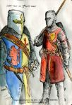 11th C Knights w Great Helm by Jerry-Teo