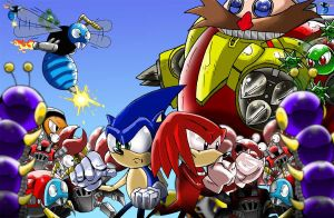 Sonic and Knuckles Versus the World WIP by geogant